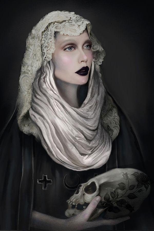 Juliana Loomer skull keeper dark art digital painting