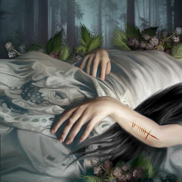 Juliana Loomer sleeping beauty dark art