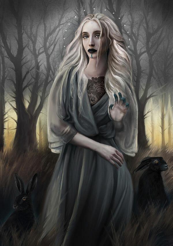 Juliana Loomer st. melangell digital painting