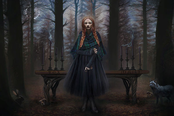 Juliana Loomer the forest witch digital painting