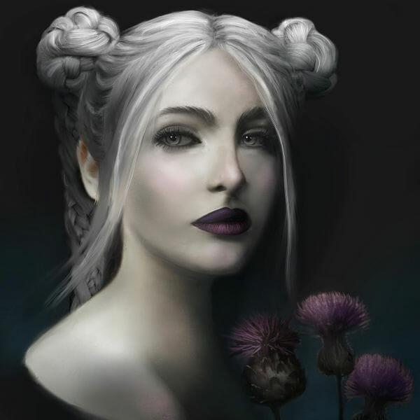 Juliana Loomer white queen digital painting