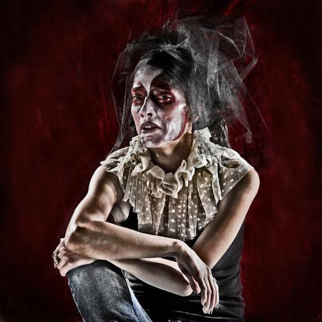 Lorena Cordero photography female clown portrait