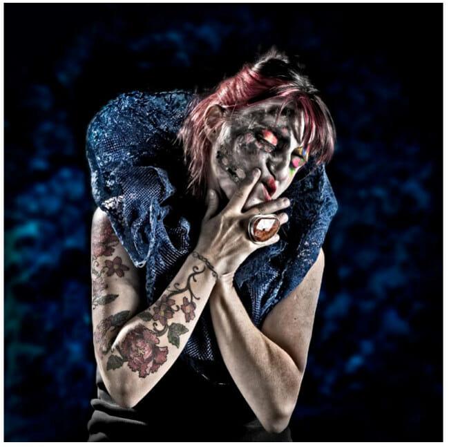 Lorena Cordero photography female clown self portrait