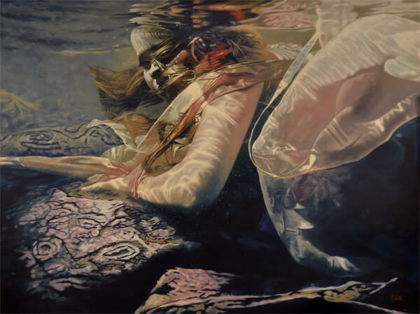 Mark Heine - Cipher underwater female siren painting