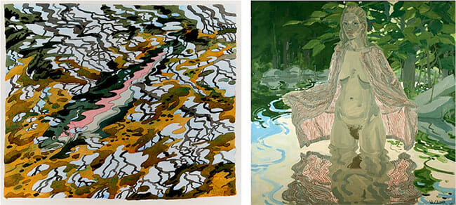 Neil Welliver surreal abstract and nude paintings