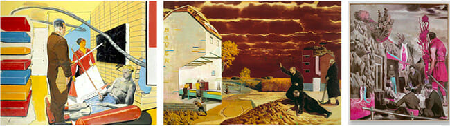 Neo Rauch surreal socialist realism paintings