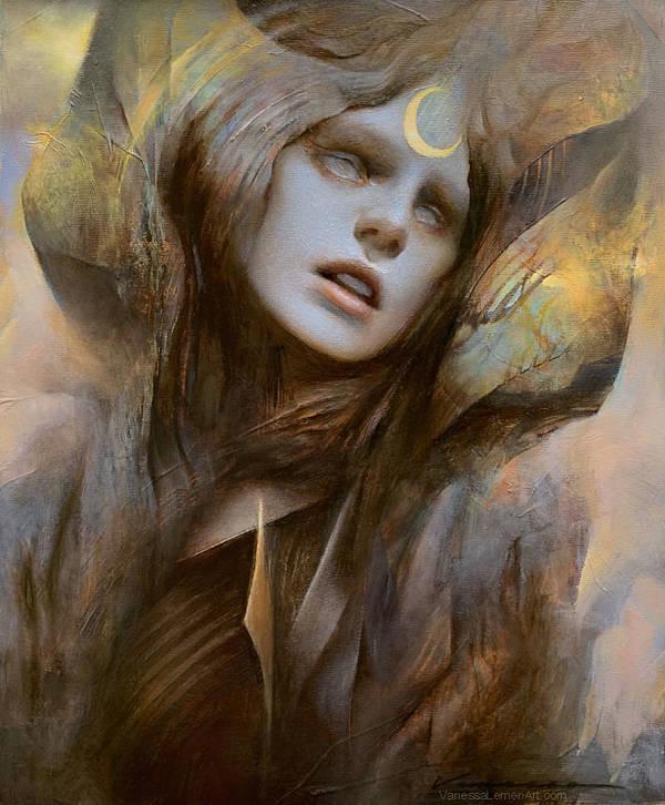 """Vanessa Lemen, """"The Foreteller"""", oil painting"""