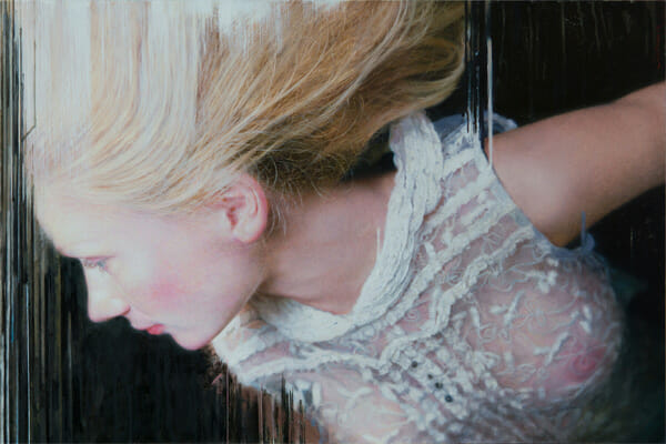 Viktoria Savenkova - Drop painting blonde girl realistic painting