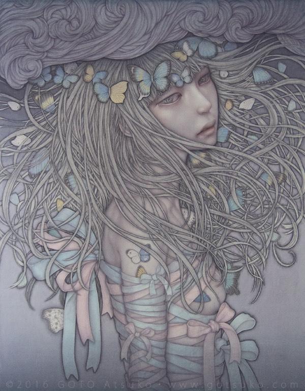 Atsuko Goto Bandaged Girl painting
