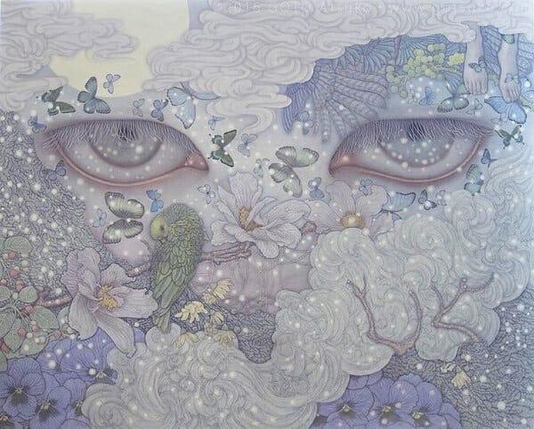 Atsuko Goto surreal eyes painting