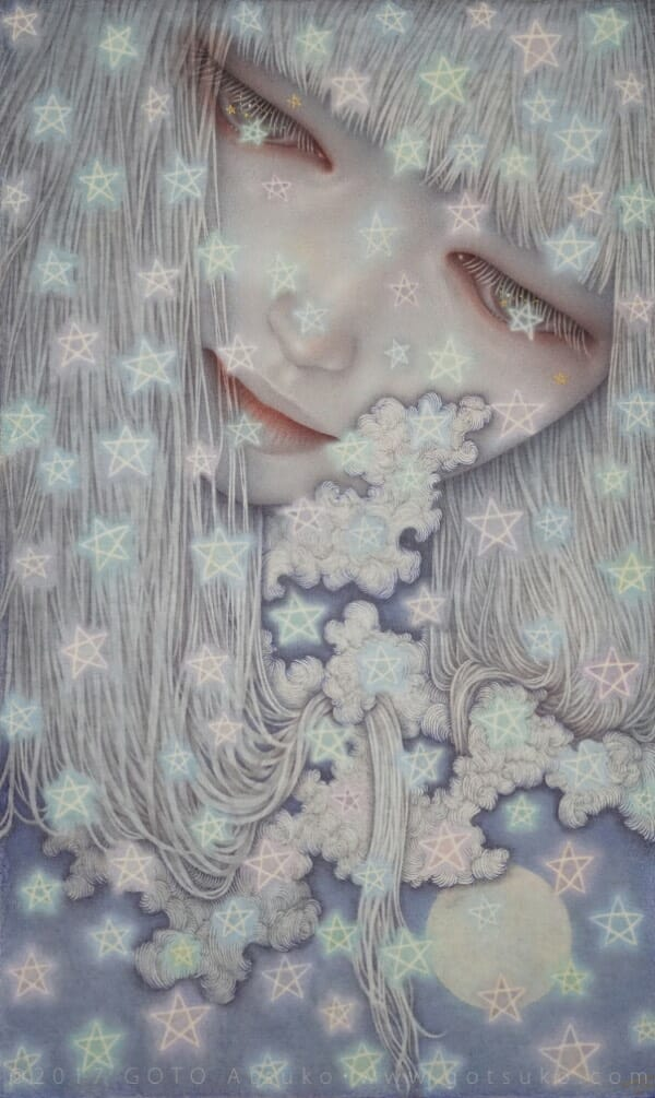 Atsuko Goto surreal star girl painting