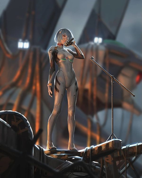 Guweiz scifi singer digital painting