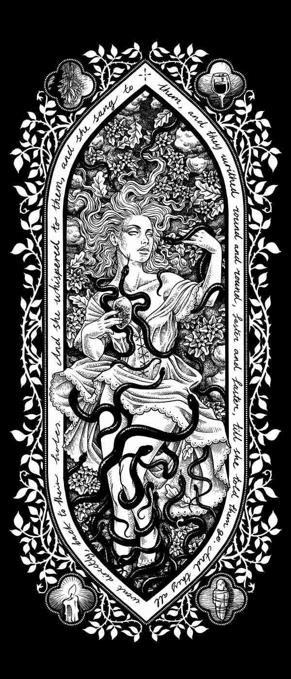 lady avalon mythology illustration artist Nickas Serpentarius