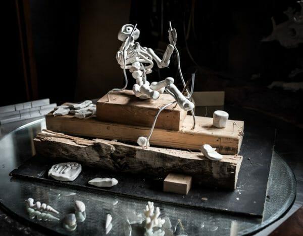 Mark Garro skeleton man prop