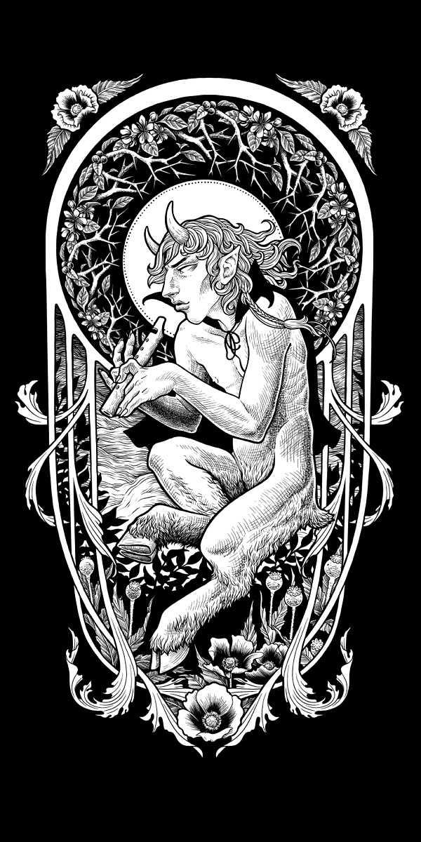 pan mythology illustration artist Nickas Serpentarius
