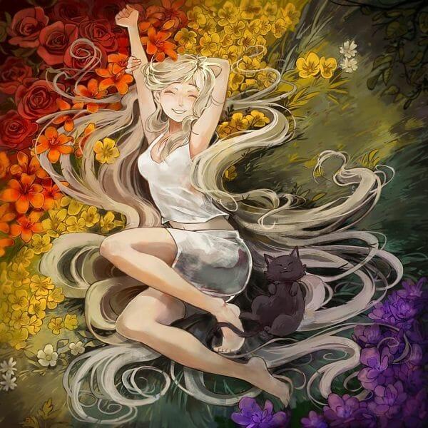 Gabriel Picolo flower girl digital