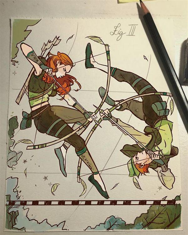 Gabriel Picolo archer twins doodle