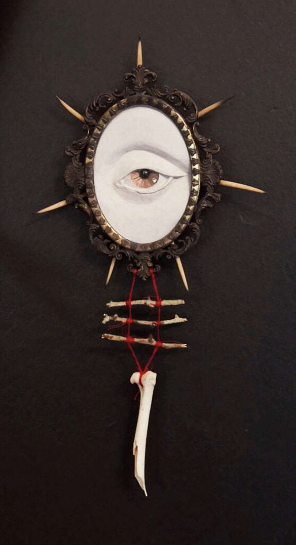 sculpture occult eye artist Nickas Serpentarius