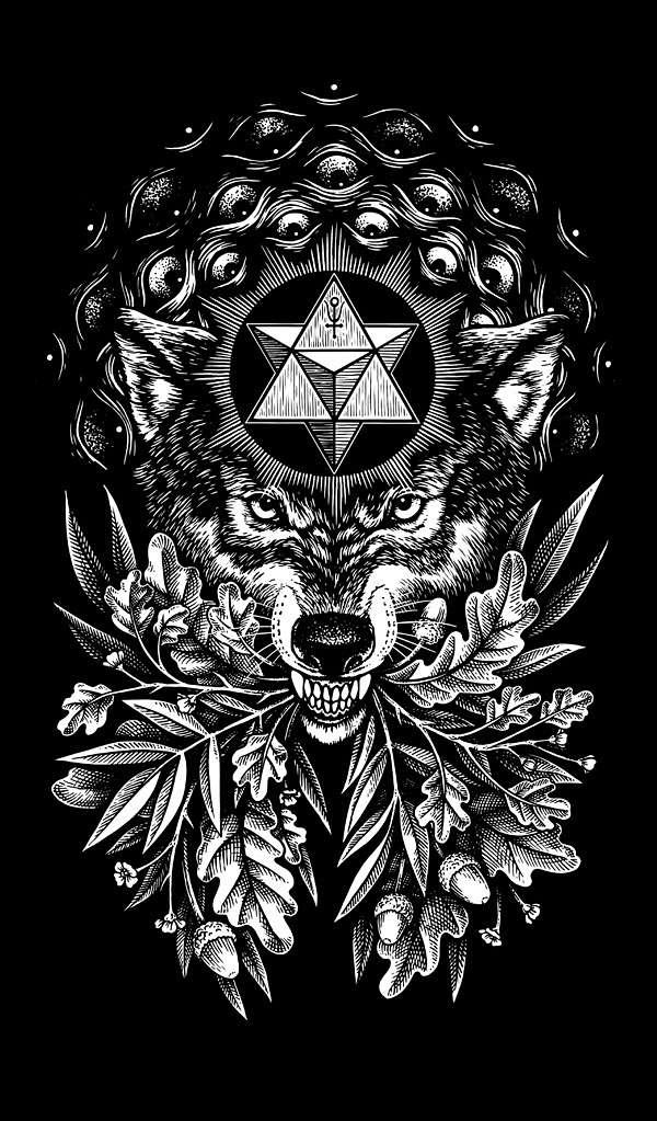 Nickas Serpentarius wolf symbols illustration