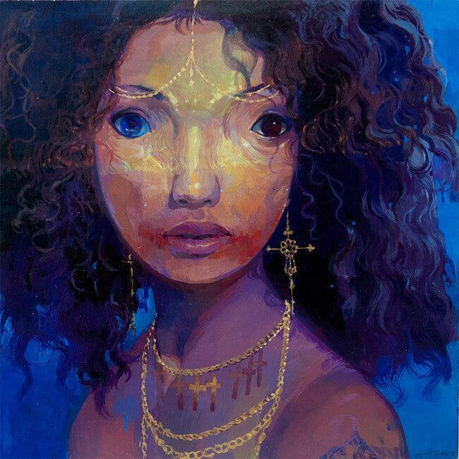 Andrew Hem black woman portrait BLAB! 14th show Copro Gallery