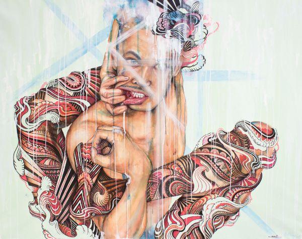 Anne Bengard Iain Macarthur Art Collaboration Tattooed Man
