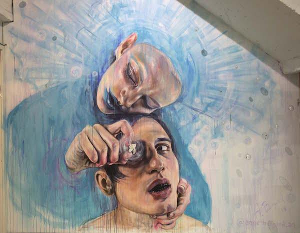Anne Bengard Mural Man Woman Tooth