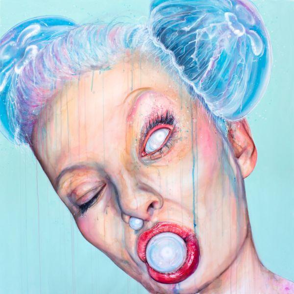 Anne Bengard Portrait Woman Jellyfish Space Buns