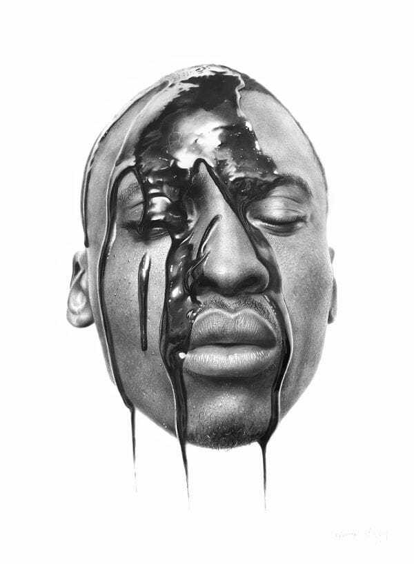 Arinze Stanley hyper-realistic portrait graphite drawing