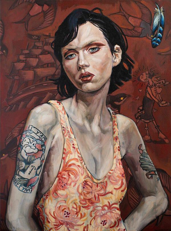 Belinda Eaton Olive painting PoetsArtists exhibition