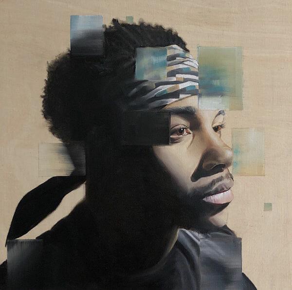 Carlo Miranda Focal Point Portrait painting