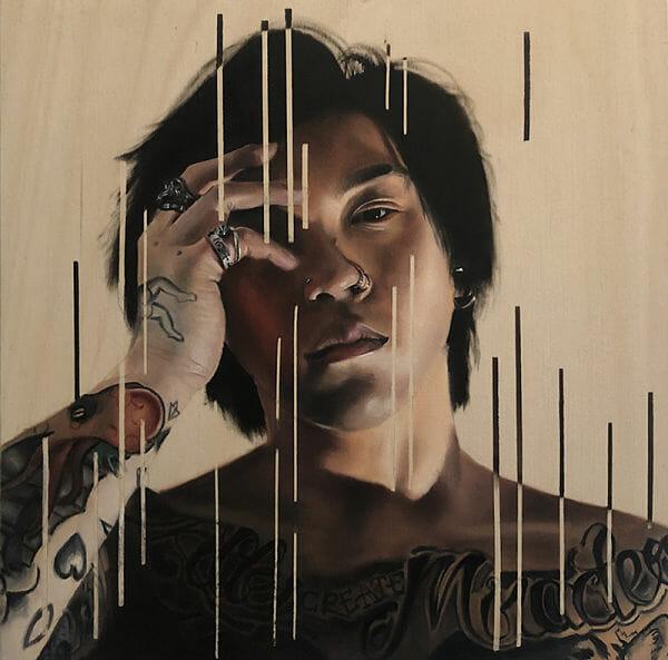 Carlo Miranda One Eye Open painting