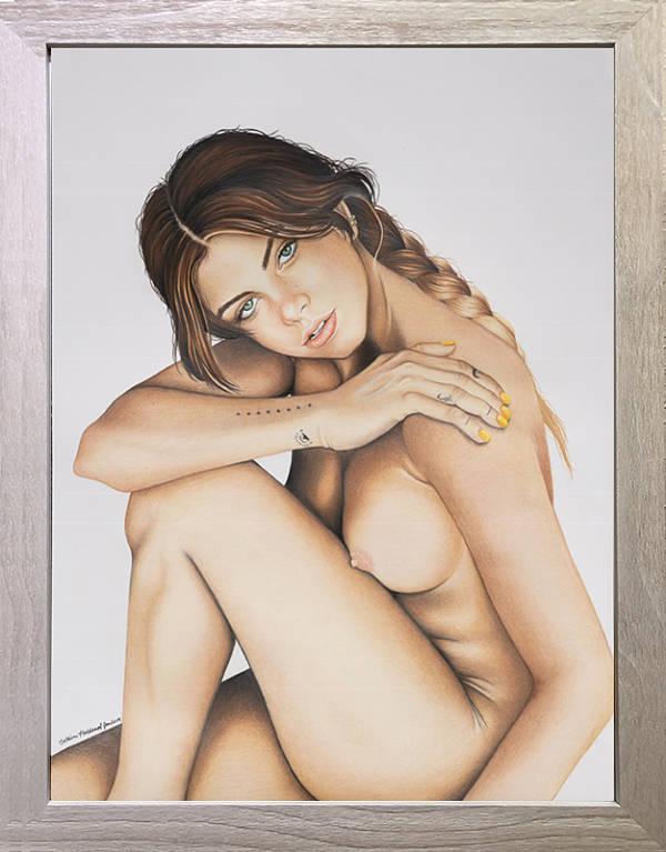 Catrina Holdampf Mimi Elashiry nude portrait painting