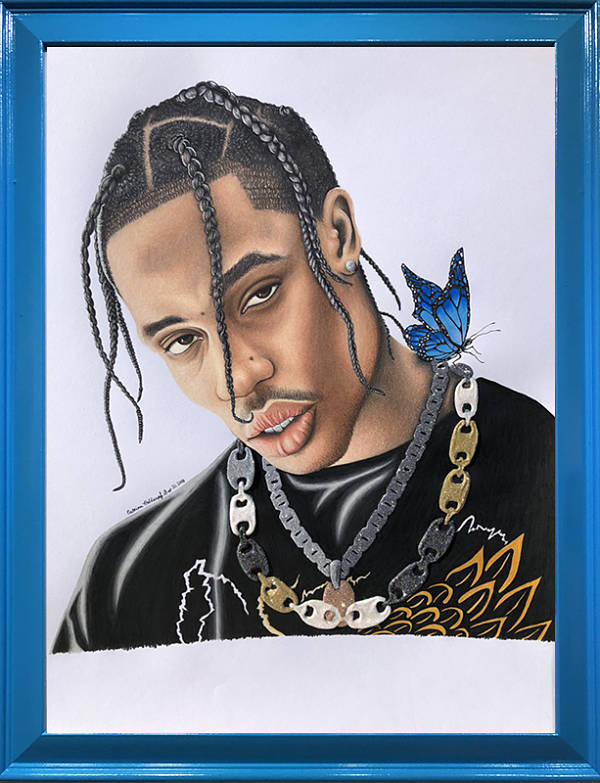 Catrina Holdampf Travis Scott portrait painting