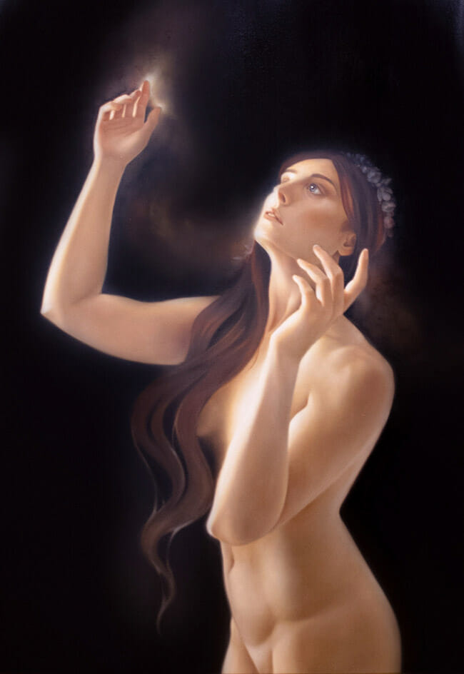 Erica Calardo painter danae nude figurative art