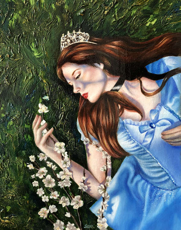 Jessica Libor Sleeping Beauty Awakening painting PoetsArtists exhibition