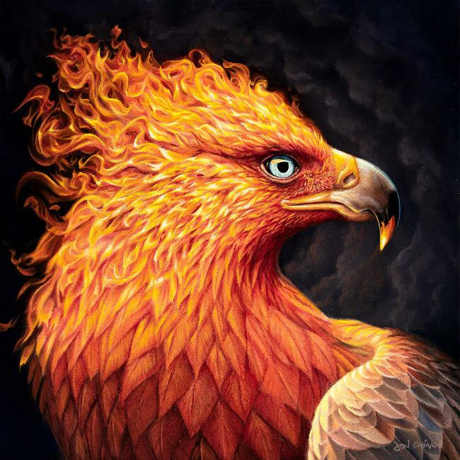 Jon Ching phoenix fire bird BLAB 14th group show Copro Gallery
