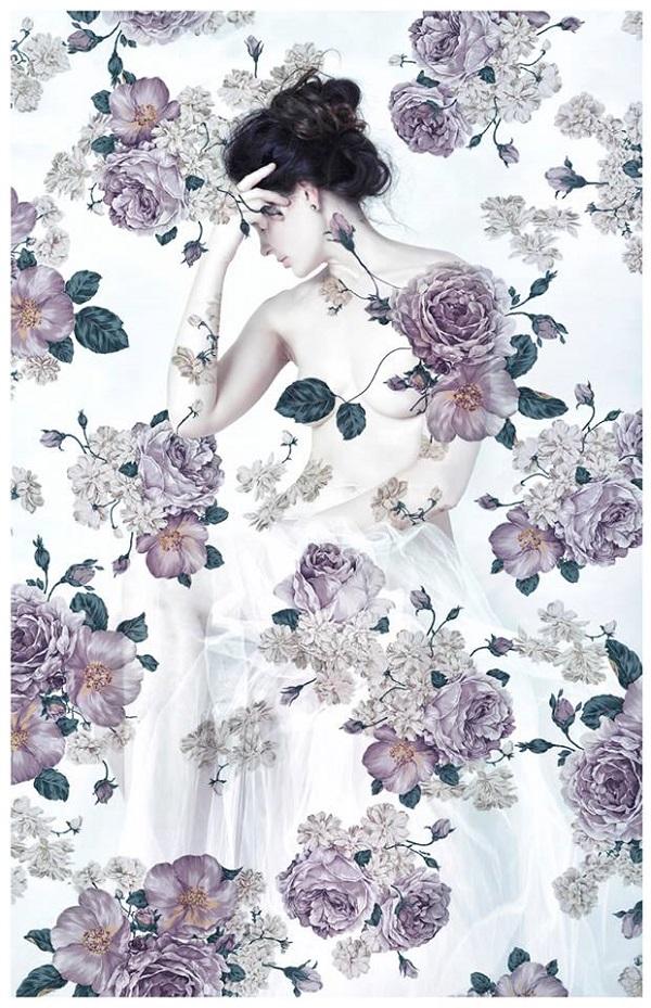 Lori Cicchini nude flowers photography