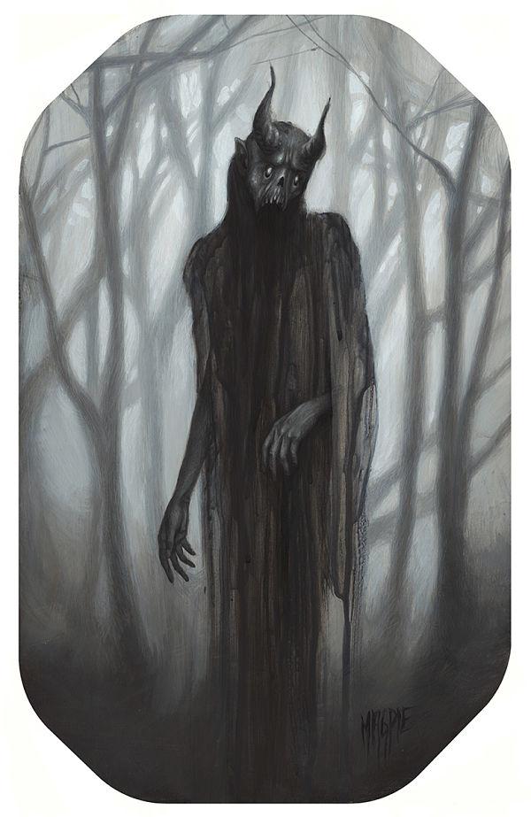 Meagan Magpie Rodgers Frigid dark art creature painting