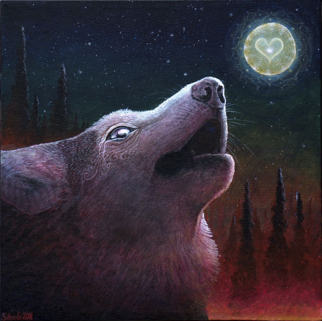 Ricky Schaede howling wolf