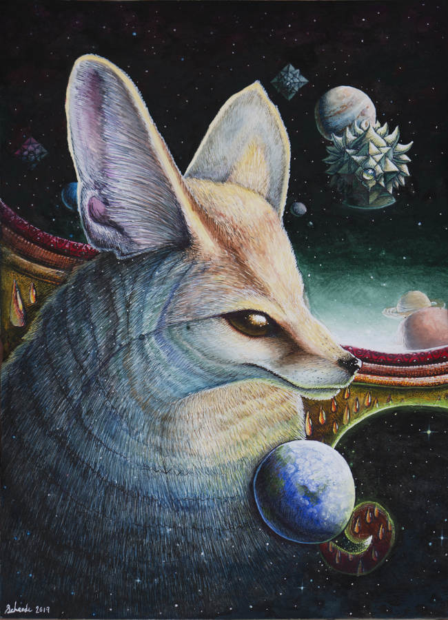 Ricky Schaede fox painting