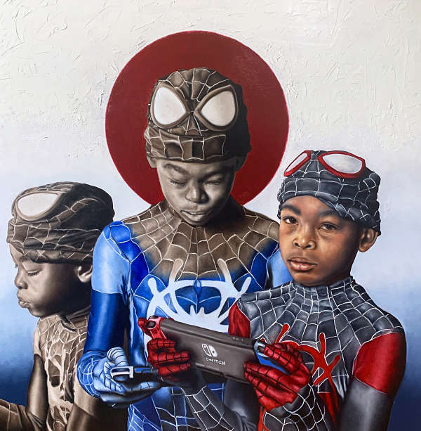 O'Neil Scott Into the SpiderVerse spiderman kid painting