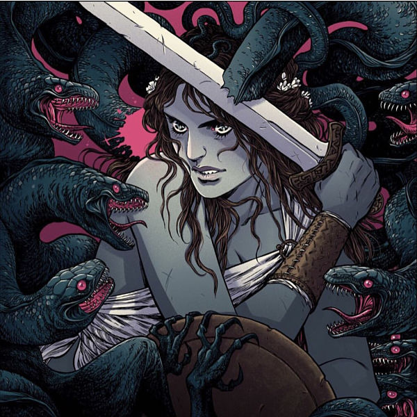 Teresa Sharpe take over Becky Cloonan warrior digital art