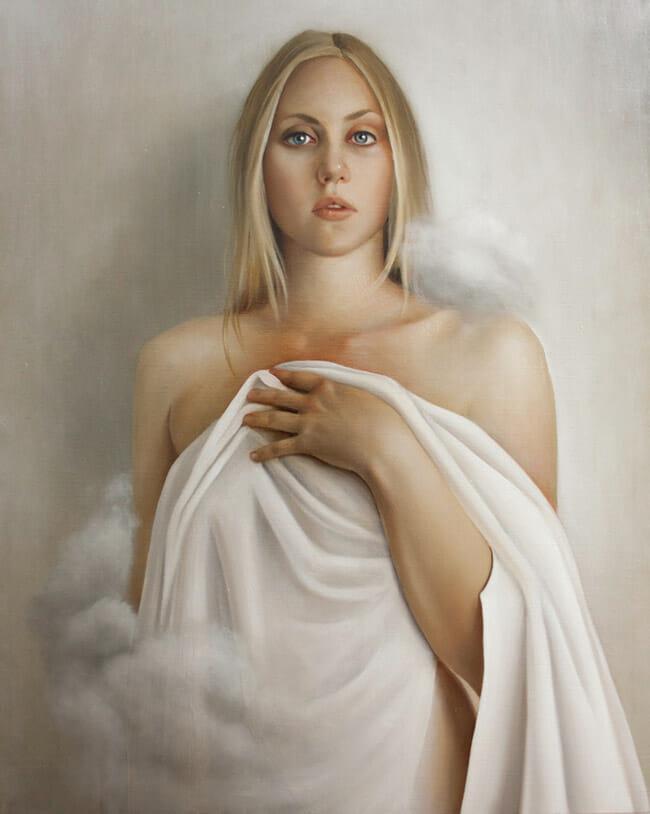 erica calardo painter hidden love blonde art