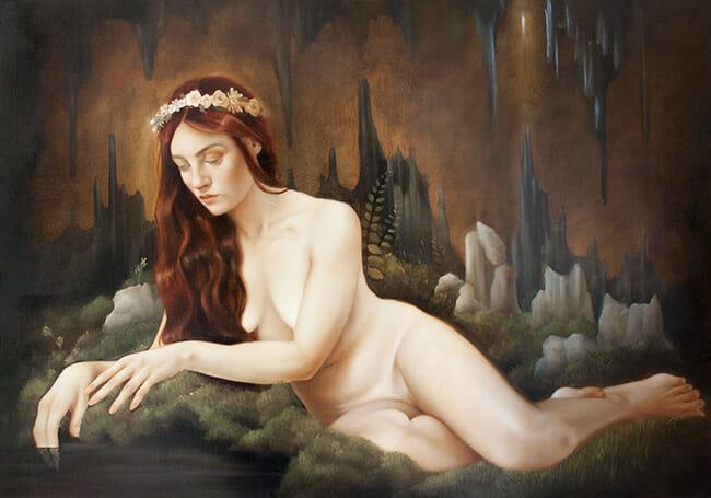 erica calardo painter lament of the nymph nature figurative art