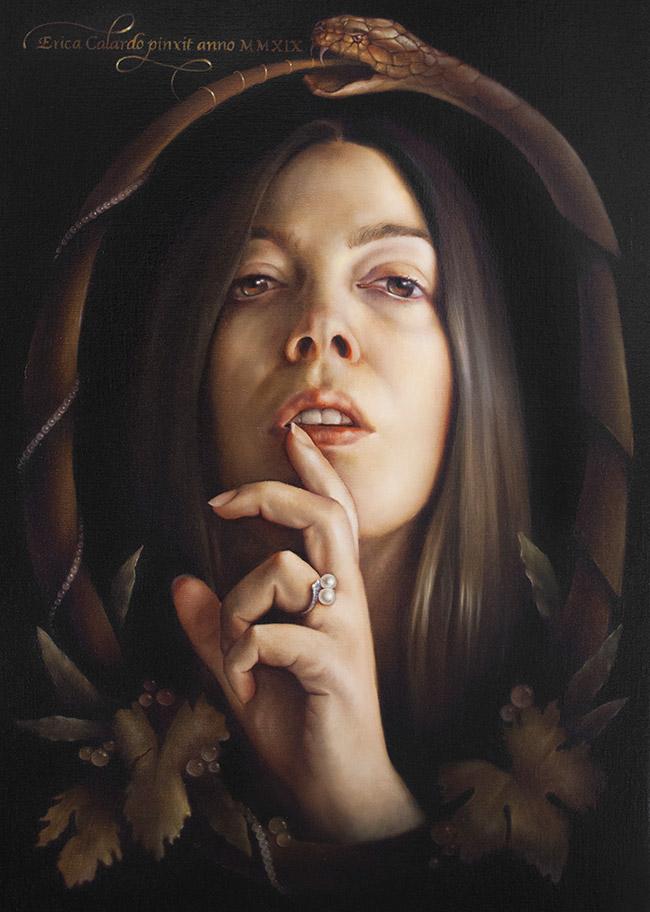 erica calardo painter SILENZIO. face snake figurativeart