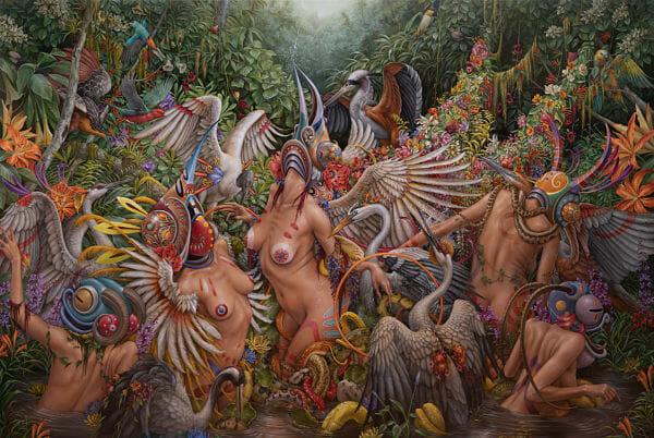 Hannah Yata nature nude painting