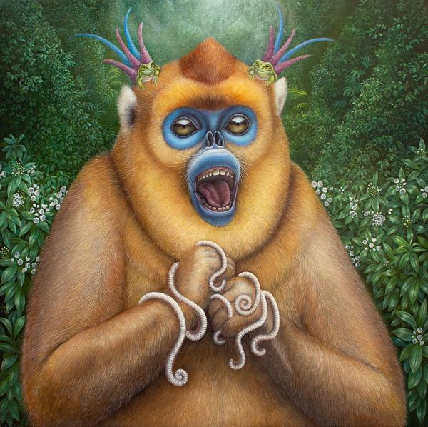 Jean-Pierre Arboleda fantasy monkey painting