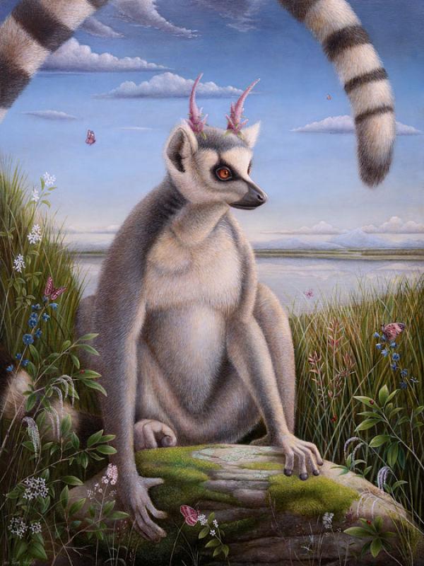 Jean-Pierre Arboleda lemur painting