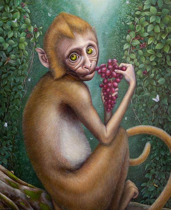 Jean-Pierre Arboleda monkey painting