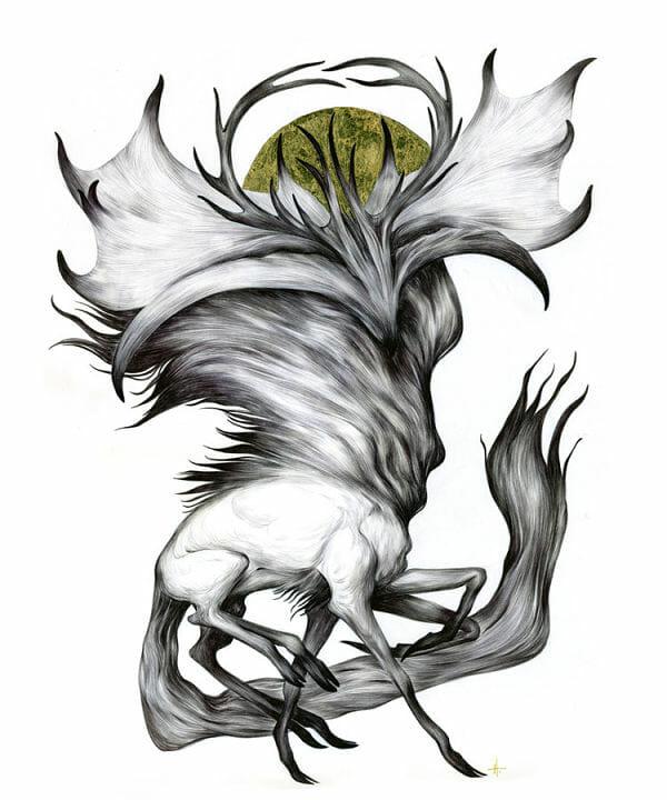 Teresa Sharpe take over Natalie Hall creature illustration